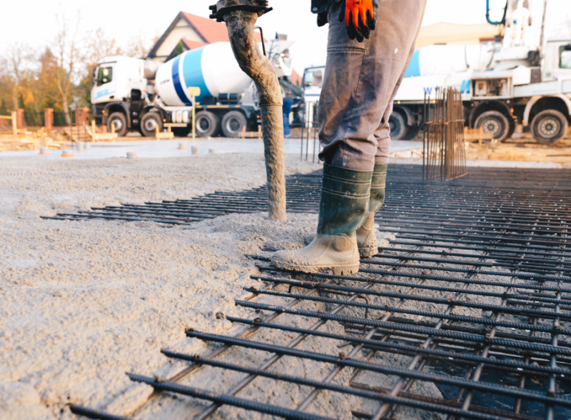 Concrete Pouring from pump
